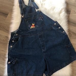 Winnie the Pooh Jean Overall Shorts Size 22
